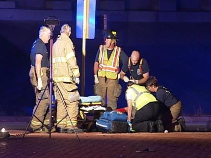 Tulsa Police Car Collides With Motorcycle, Injuring Two