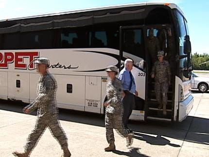 Friends, Family Welcome Tulsa Black Hawk Crews Home