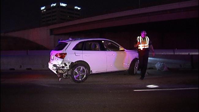 No Injuries In Two Vehicle Wreck On I-44 In Tulsa