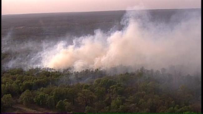 Creek County Wildfire Threatening Homes