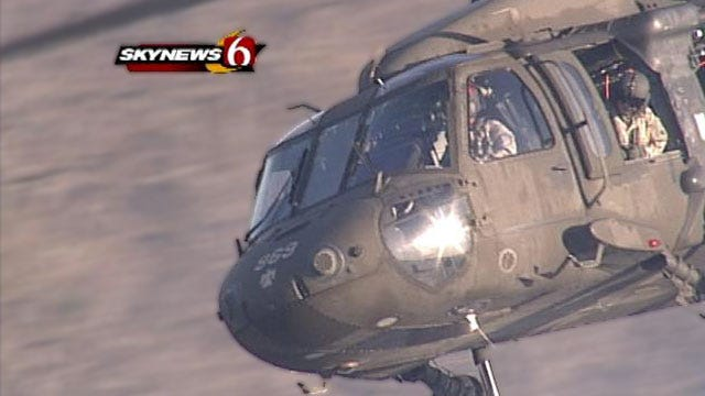 National Guard Works Overtime As Grass Fires Ravage Green Country