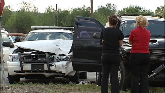 Tulsa County Sheriff's Deputy Injured In Crash