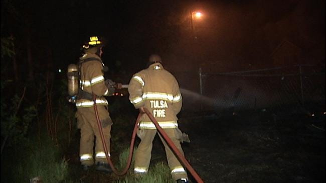 Tulsa Grass Fire Blamed On Power Line