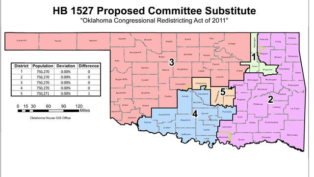 Proposed Oklahoma Congressional Redistricting Map Unveiled