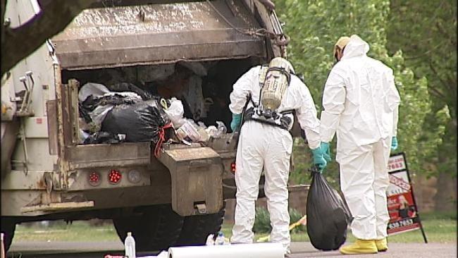 Owasso Garbage Collectors Find Remnants Of Meth Lab Inside Trash Bag