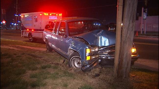 Tulsa Man Arrested After Leaving Injured Woman In Car Wreck