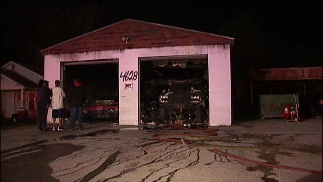 Suspicious Fire At North Tulsa Auto Body Shop Under Investigation