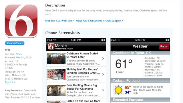 Get Weather On The Go With News On 6 iPhone App