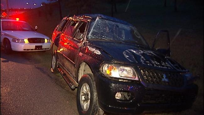Tulsa Police Find Wrecked, Abandoned Car In North Tulsa