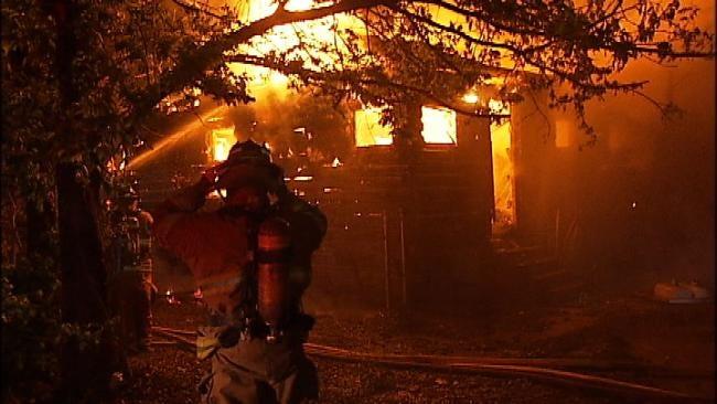 Fires Damage Tulsa House, Log Cabin Early Monday Morning