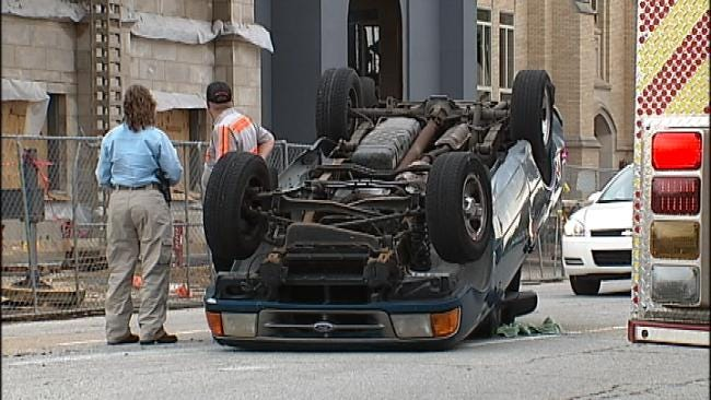 Man Seriously Injured In Downtown Tulsa Crash After Driver Runs Red Light