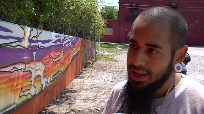 Artist Leaves Mark Behind Tulsa's Mercury Lounge