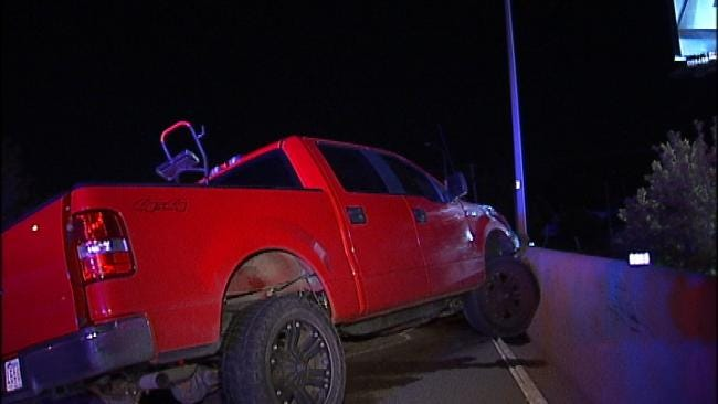 Pickup Truck Crash On BA Expressway Sends Man To Tulsa Hospital