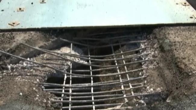 Hole Opens Up On I-40 Bridge Near Muldrow