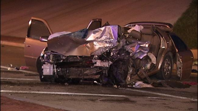 Driver Freed From High Speed Tulsa Wreck