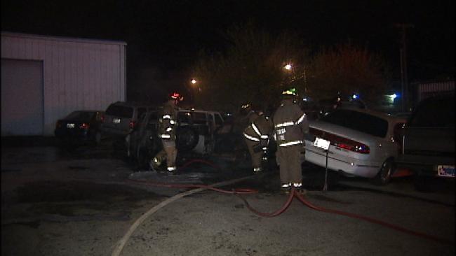Fire Destroys Three Vehicles At Tulsa Repair Shop