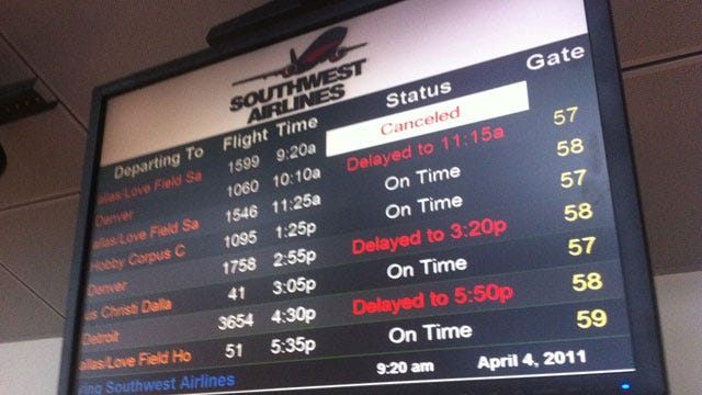 Southwest Airlines Cancels Flights In And Out Of Tulsa