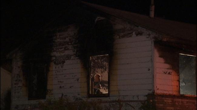 Vacant House Burns In North Tulsa