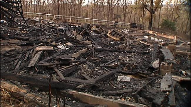 Wind-Whipped Flames Destroy Two South Tulsa Homes Late Sunday