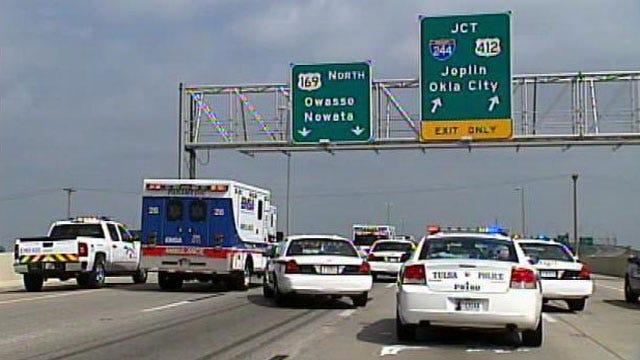 Burglars Busted After Crashing Truck On Tulsa Highway