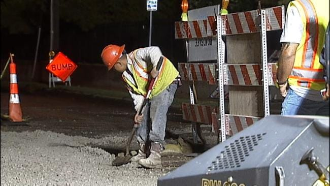 Tulsa Road Project Suffers Setback After Crews Hit Buried Railroad Line
