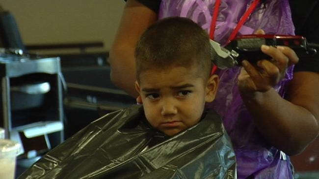 Green Country Students Get Free 'Back To School' Haircuts