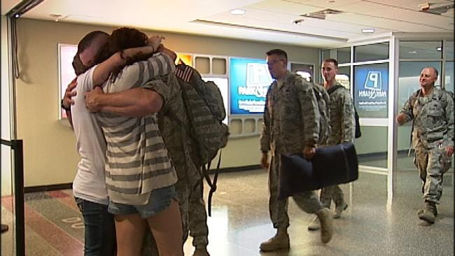 Families Celebrate Oklahoma Troops Coming Home