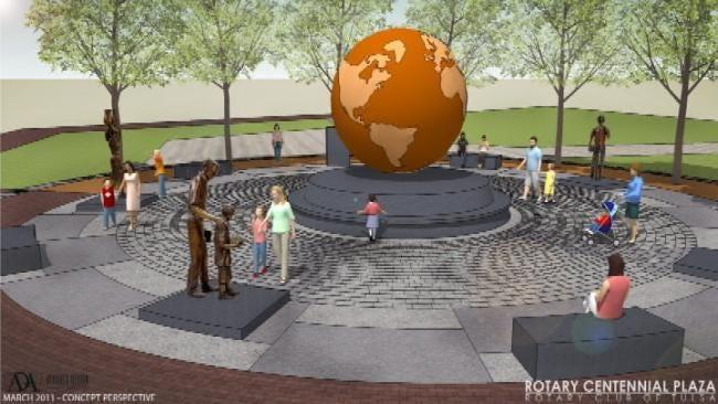 Tulsa Rotary Club Breaks Ground On Downtown Plaza