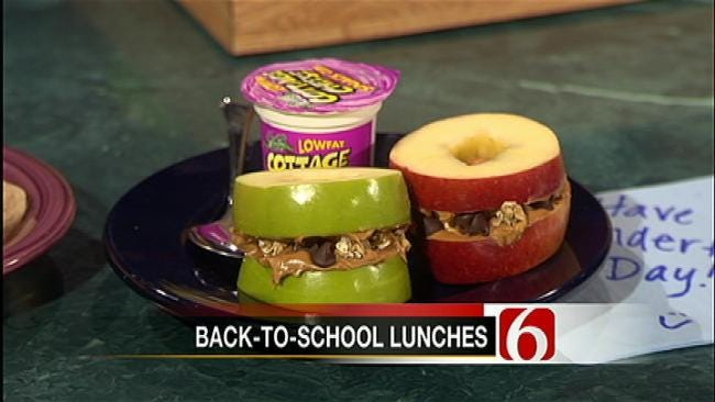 Apple Sandwiches With Granola And Peanut Butter