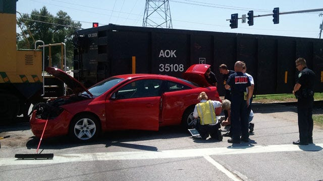 Driver Cited Following Car-Train Crash In Sand Springs