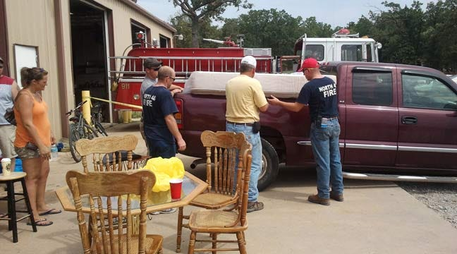 Terlton Community, Firefighters Help Wildfire Victims Rebuild Their Lives
