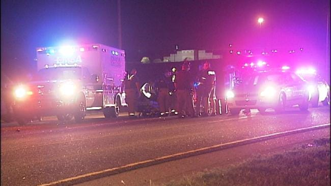 Wrong-Way Tulsa Driver Injured In Rollover Wreck