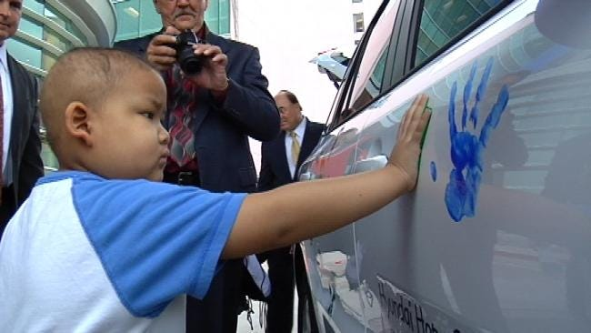 Child Cancer Patients Leave Their Mark In Tulsa