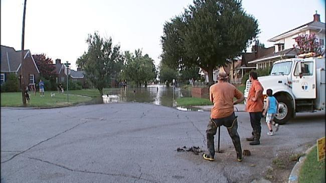Tulsa Water Main Break Creates River In Midtown