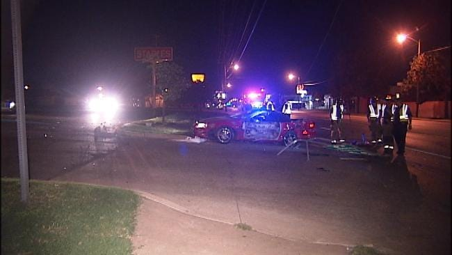 Nitrous-Fueled Drag Race Ends In Tulsa Wreck