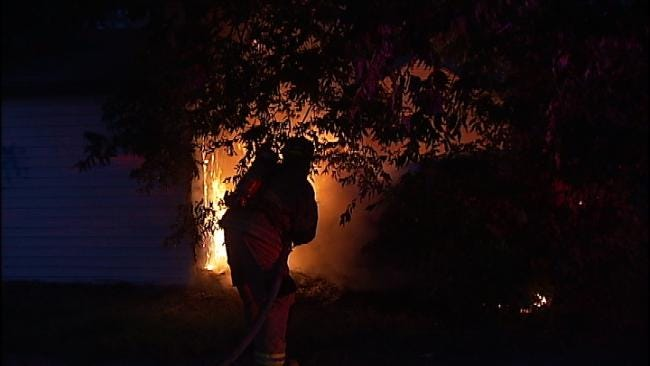 Tulsa Firefighters Keep Car Fire From Damaging Structure