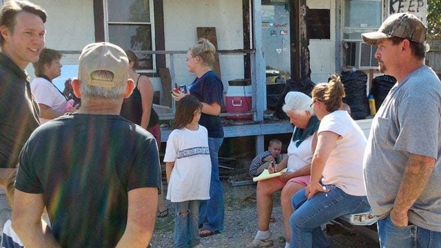 Turley Residents Sift Through The Ashes From Tuesday's Fire
