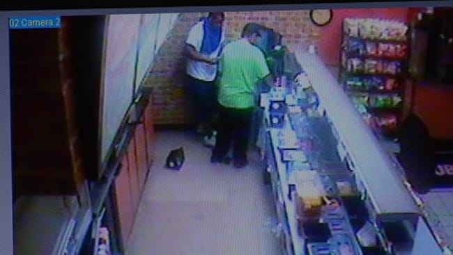 Police Release Surveillance Video In Tulsa Subway Robbery