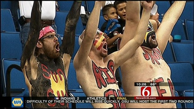 Super Fans Roll Out For Tulsa Shock