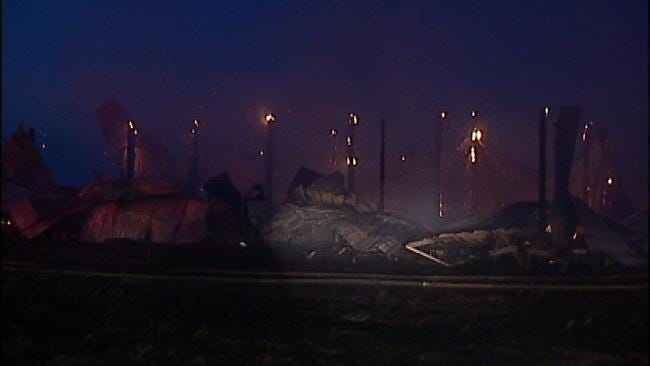 Two Buildings Destroyed In Mannford-Area Fire