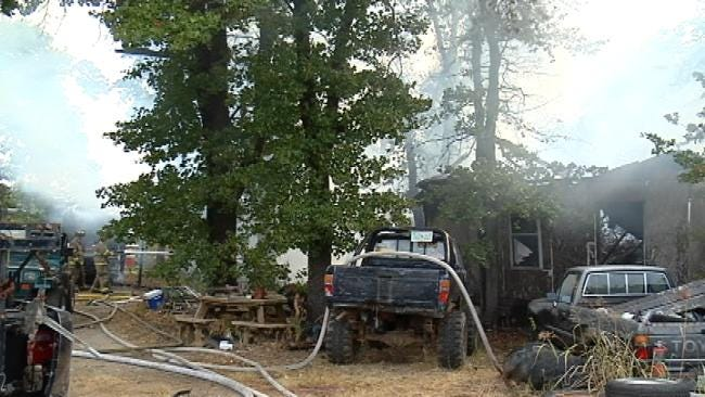 No One Injured In Rural Sapulpa Mobile Home Fire