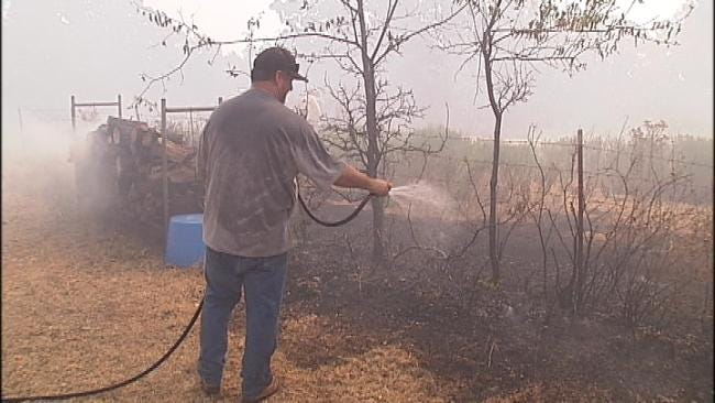Destructive Green Country Wildfires Re-Ignite, Drive Dozens From Their Homes