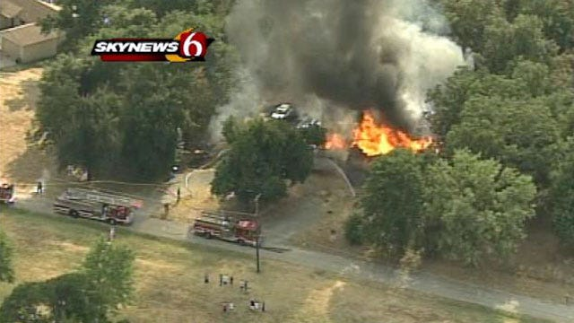 Sand Springs Home Goes Up In Flames Miles From Wild fires