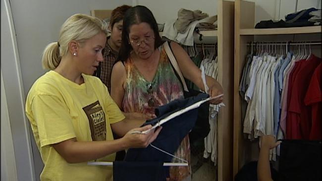 Families Line Up For Tulsa School Uniform Giveaway