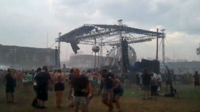 WATCH: Concert Goer Captures Stage Collapse At Brady Block Party