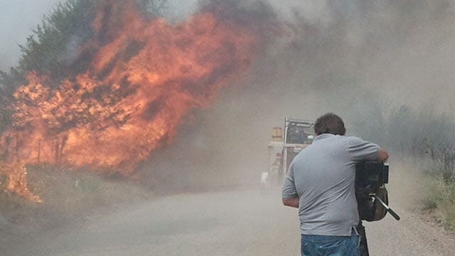 Pawnee County Wildfire Flares Back Up