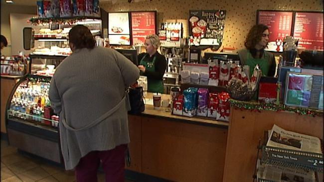 Couple Ties The Knot At Tulsa Starbucks