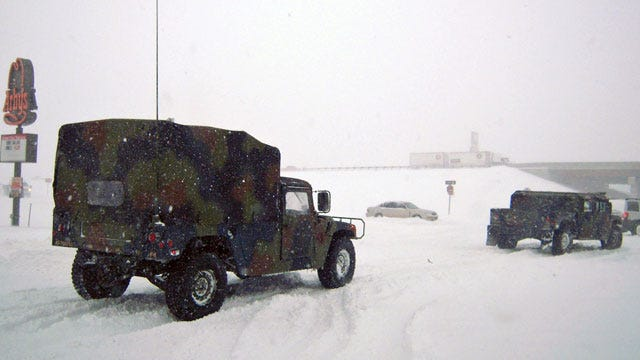 Oklahoma National Guard Activated To Rescue Stranded Drivers