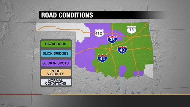 Oklahoma Road And Highway Closures