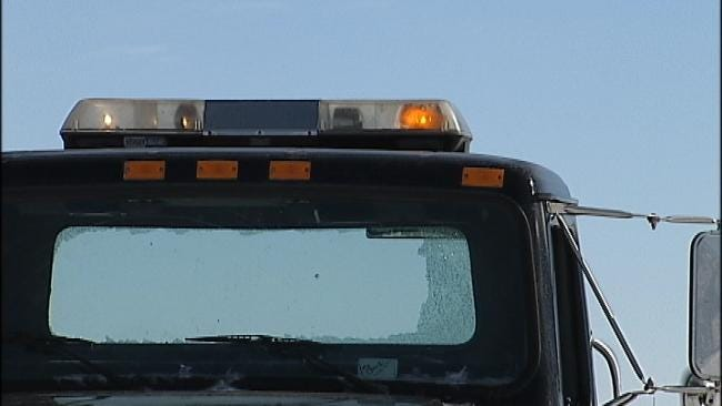 Adair Tow Truck Driver Uninjured When Cable Breaks, Shatters Window